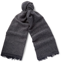 Oliver Spencer Brushed Alpaca-Blend Scarf