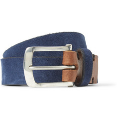 Oliver Spencer 3cm Navy Suede Belt