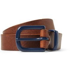 Oliver Spencer 4cm Brown Leather Belt