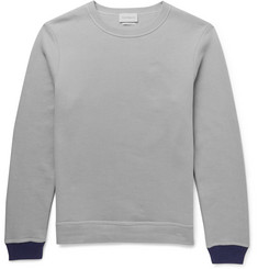 Oliver Spencer Loungewear Contrast-Trimmed Cotton and Cashmere-Blend Sweatshirt