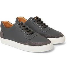 Harrys of London Mr Jones Leather and Suede Sneakers
