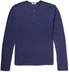 James Perse Sulvin Cotton-Jersey Henley T-Shirt