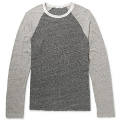 James Perse Long-Sleeved Cotton-Jersey Raglan T-Shirt