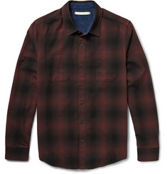 Outerknown Compass Check Cotton-Flannel Shirt