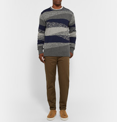 Outerknown Costa Crew Organic Cotton and Baby Alpaca-Blend Jacquard Sweater