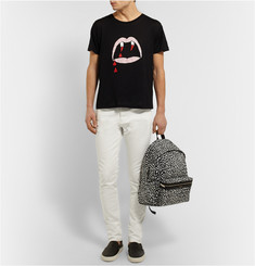 Saint Laurent Blood Lustre Printed Cotton-Jersey T-Shirt