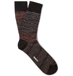 Missoni Crochet-Knit Dégradé Wool-Blend Socks