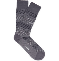 Missoni Zigzag-Weave Cotton-Blend Socks