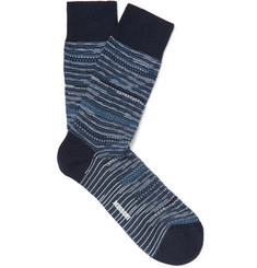 Missoni Striped Cotton-Blend Socks