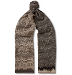 Missoni Zig-Zag Patterned Wool-Blend Jacquard Scarf