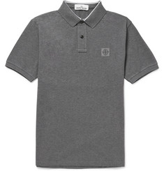 Stone Island Slim-Fit Cotton-Piqué Polo Shirt
