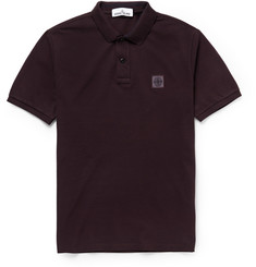 Stone Island Cotton-Piqué Polo Shirt