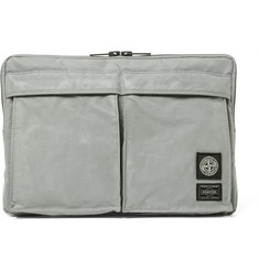 Stone Island + Porter Coated Cotton Pouch