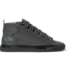 Balenciaga Creased-Leather Arena Sneakers