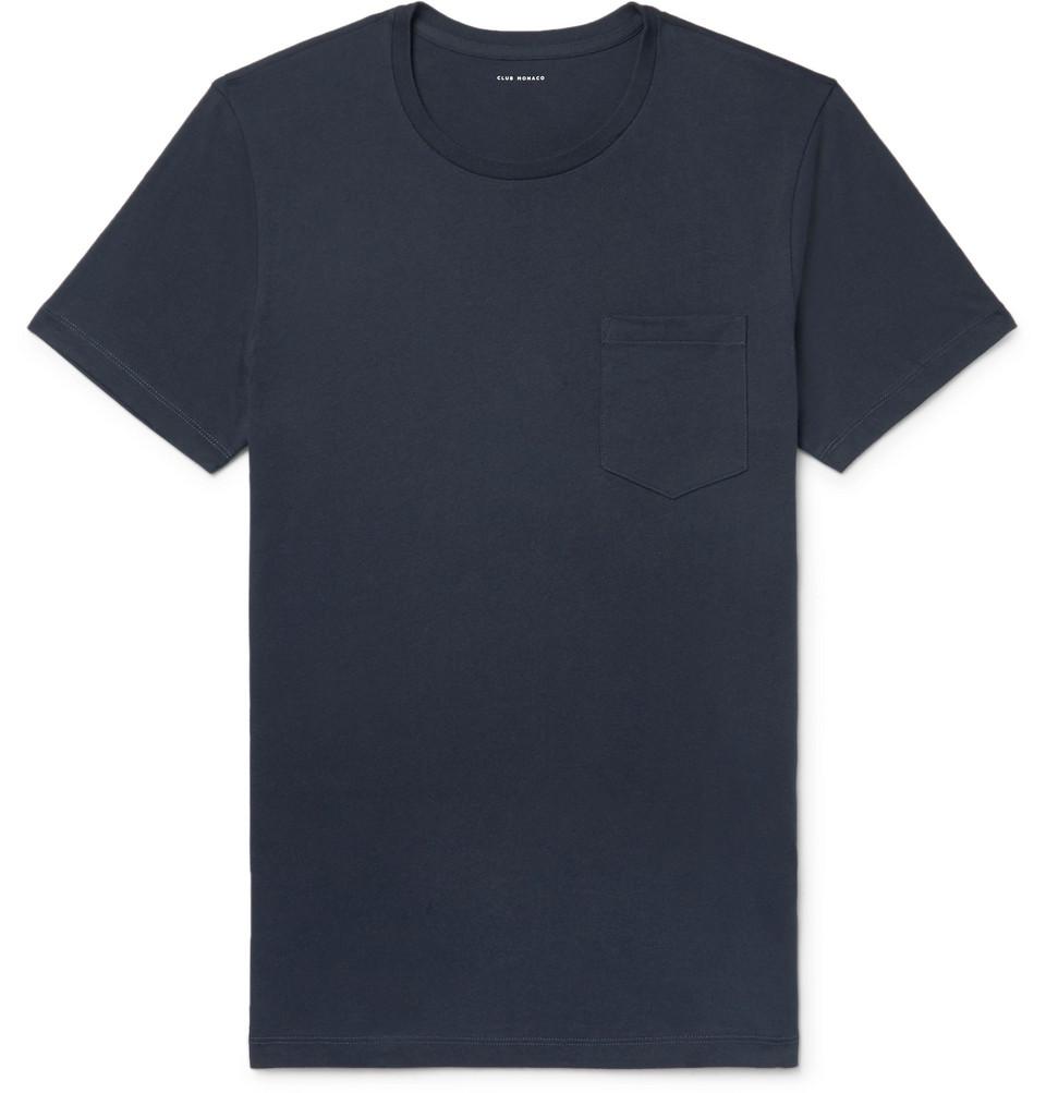 Williams Cotton-jersey T-shirt - Midnight blue