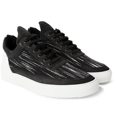 Filling Pieces Nubuck-Trimmed Woven Sneakers