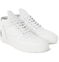 Filling Pieces Nubuck-Trimmed Quilted-Leather Sneakers