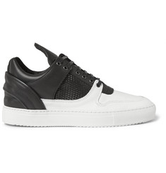 Filling Pieces Two-Tone Leather Sneakers