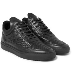 Filling Pieces Woven Leather Sneakers