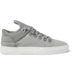 Filling Pieces Leguano Snake-Effect Leather and Nubuck Sneakers