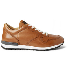 Tod's Glossed-Leather Sneakers