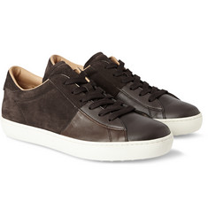 Tod's Panelled Suede and Leather Sneakers