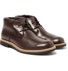 Tod's - Shearling-Lined Leather Desert Boots