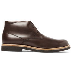 Tod's Shearling-Lined Leather Desert Boots
