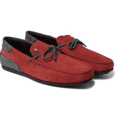 Tod's - + Ferrari Gommino Nubuck Driving Shoes