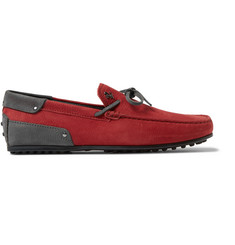 Tod's + Ferrari Gommino Nubuck Driving Shoes