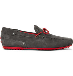 Tod's + Ferrari City Gommino Suede Driving Shoes