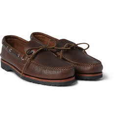 Quoddy Canoe Pebbled-Leather Boat Shoes