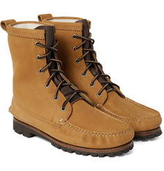 Quoddy Grizzly Shearling-Lined Chamois Nubuck Boots