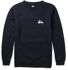Stüssy Printed Cotton-Blend Sweatshirt