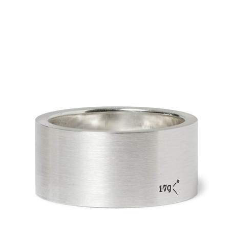 le gramme male 45900 le gramme 11mm brushed sterling silver ring silver