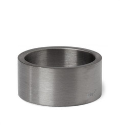 Le Gramme 11mm Brushed Ruthenium-Plated Ring