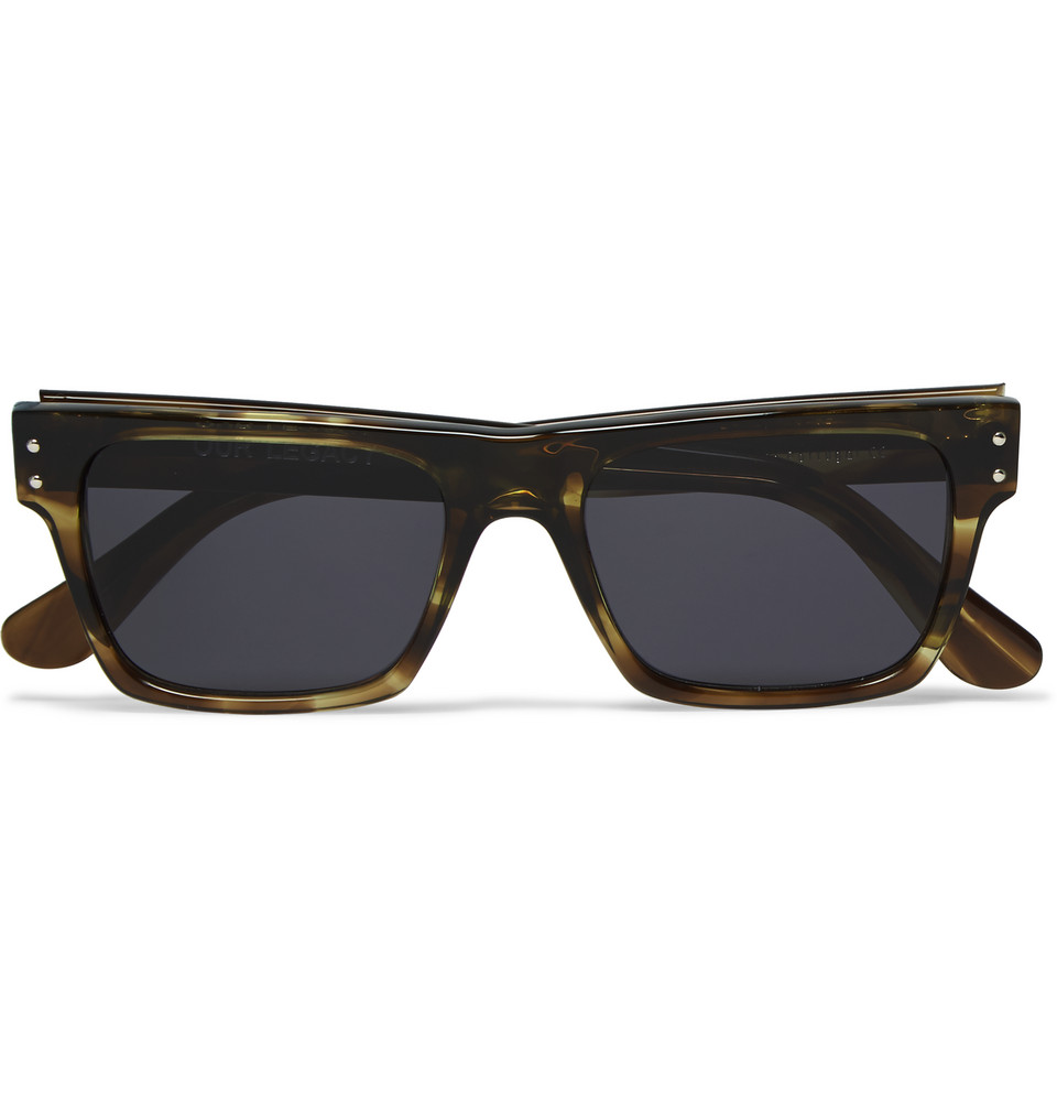 Faith Square Frame Tortoiseshell Acetate Sunglasses Brown