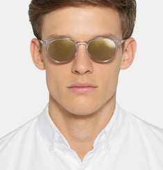 Our Legacy Void Round-Frame Mirrored Acetate Sunglasses