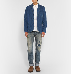 Fabric-Brand & Co Massa Slim-Fit Distressed Selvedge Denim Jeans