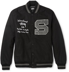 Stüssy Wool-Blend Letterman Jacket