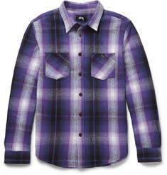 Stüssy Plaid Brushed Cotton-Twill Shirt