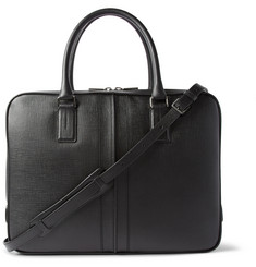 Tod's Dual-Compartment Cross-Grain Leather Briefcase