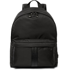 Tod's Leather-Trimmed Shell Backpack
