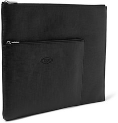 Tod's Cross-Grain Leather Document Holder