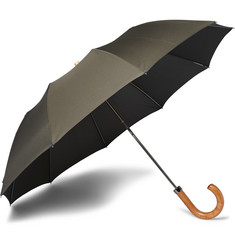 London Undercover Maple-Handle Collapsible Umbrella