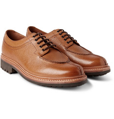 Grenson Percy Split-Toe Pebble-Grain Leather Derby Shoes