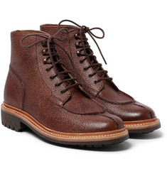 Grenson - Grover Grained-Leather Boots