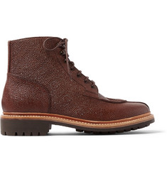 Grenson Grover Grained-Leather Boots