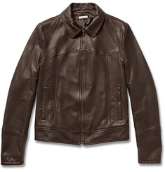 Tomas Maier Tumbled-Leather Jacket