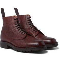 Cheaney Pebble-Grain Leather Boots